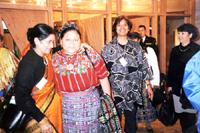 With Peace Nobeleurate Regabeta Mencho, 1999