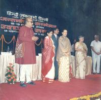 With Sonia Gandhi and Janardan Diwadi in a functio ..