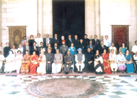 With Prime Minister Dr Manmohan Singh during Padma ..