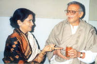 with Gulzar in Delhi,2002